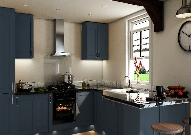 Shaker Matt Indigo Blue Kitchen Doors