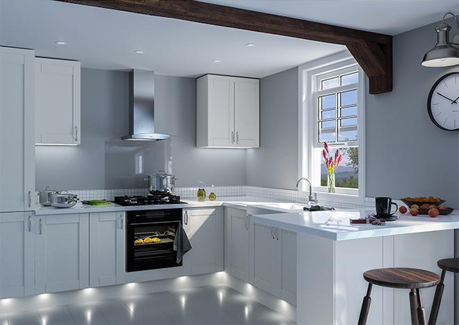 Shaker Oakgrain Grey Kitchen Doors
