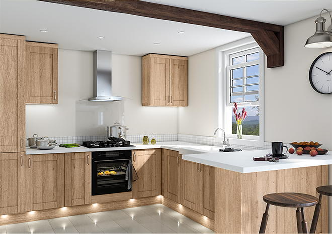 Shaker Sonoma Natural Oak Kitchen Doors