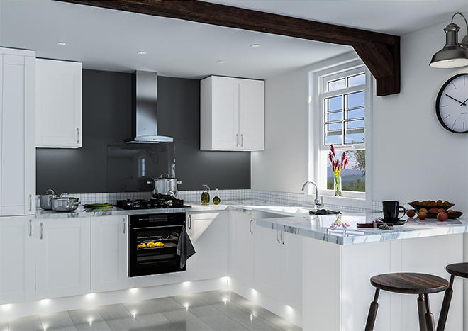 Shaker Super White Ash Kitchen Doors Made To Measure From Pound 3 29