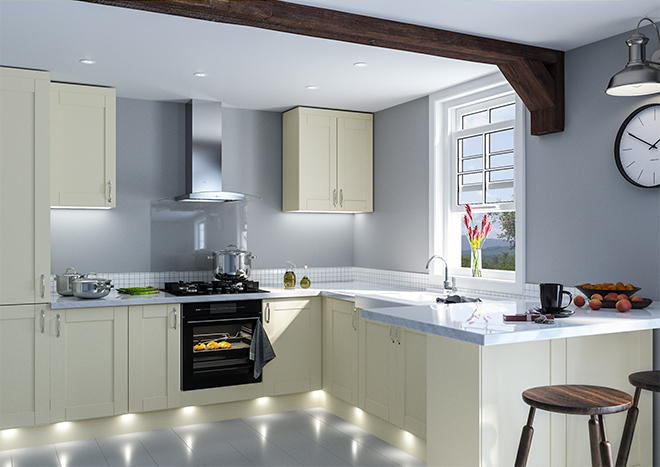 Shaker Vanilla Kitchen Doors