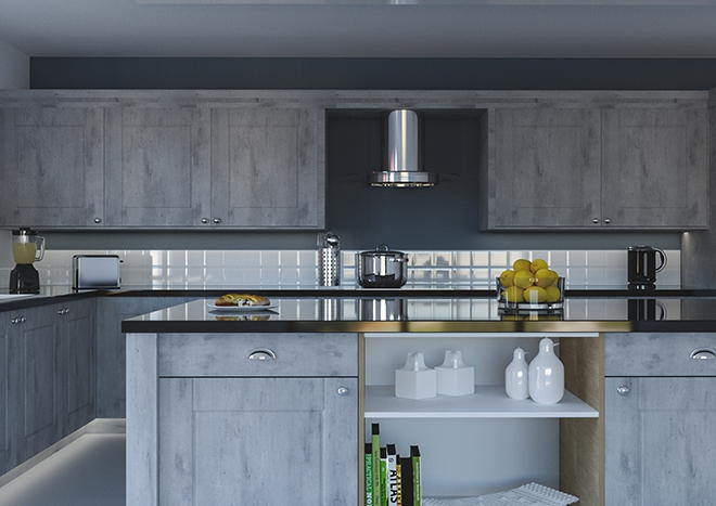 Surrey London Concrete Kitchen Doors