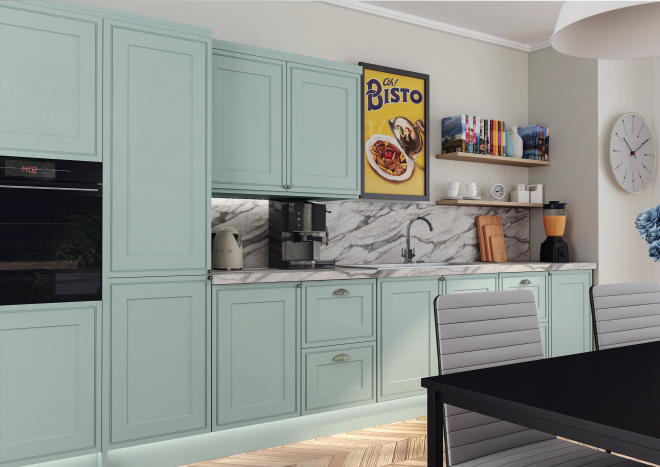 Tullymore Matt Denim Kitchen Doors