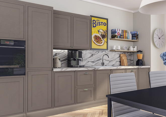 Tullymore Matt Stone Grey Kitchen Doors Made To Measure From - Matt grey kitchen doors