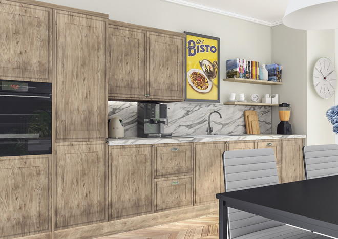 Tullymore Pippy Oak Kitchen Doors