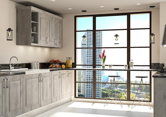 Tuscany London Concrete Kitchen Doors