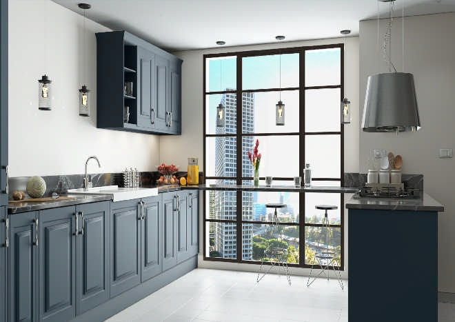 Tuscany Matt Indigo Blue Kitchen Doors