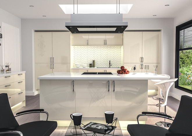 Venice High Gloss Cream Kitchen Doors