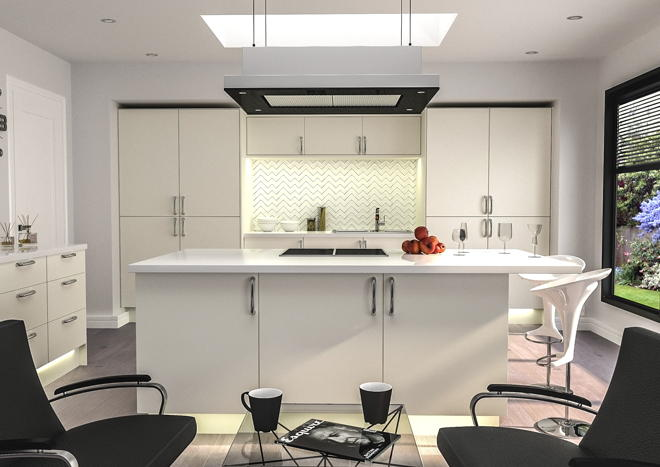 Venice Matt Dove Grey Kitchen Doors