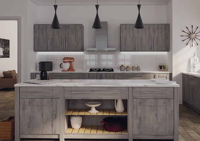 Warwick London Concrete Kitchen Doors