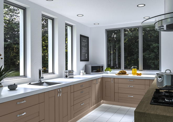 Warwick Matt Stone Grey Kitchen Doors