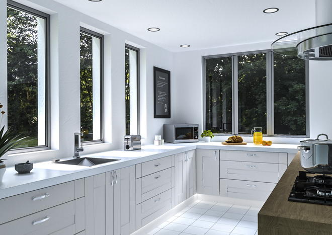 Warwick Satin White Kitchen Doors