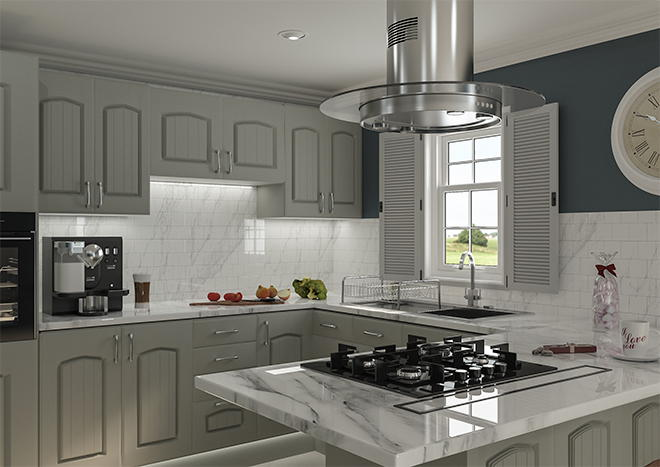 Westbury Matt Dakkar Kitchen Doors