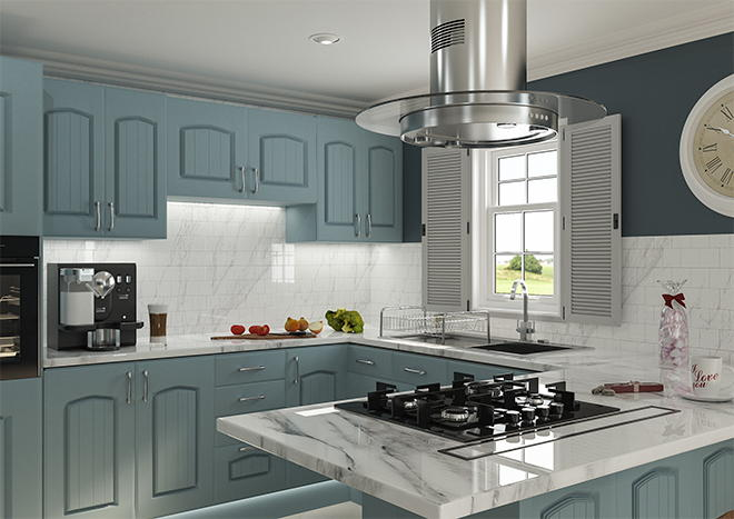 Westbury Matt Denim Kitchen Doors