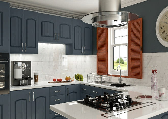 Westbury Matt Indigo Blue Kitchen Doors