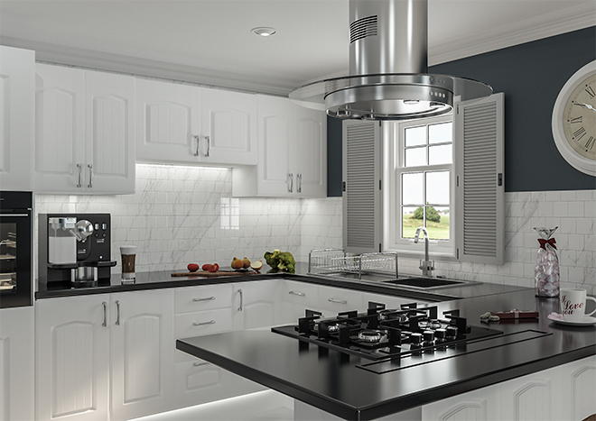 Westbury Porcelain White Kitchen Doors