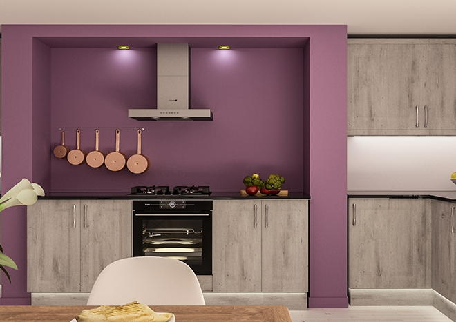 York London Concrete Kitchen Doors