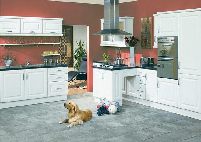 Kitchen Cabinet Doors - York Satin White