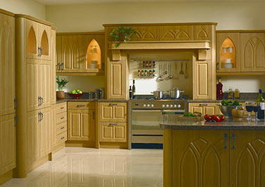Gothic Paintable Vinyl Kitchen Doors