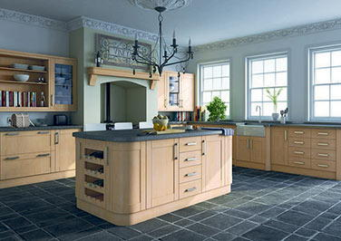 Shaker Super White Ash Kitchen Doors