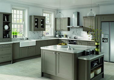 Tullymore Matt Stone Grey Kitchen Doors