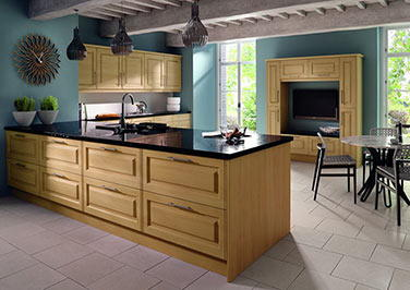 Tuscany High Gloss Snow Larch Kitchen Doors