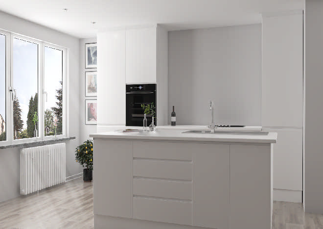 Gemini High Gloss White Kitchen Doors