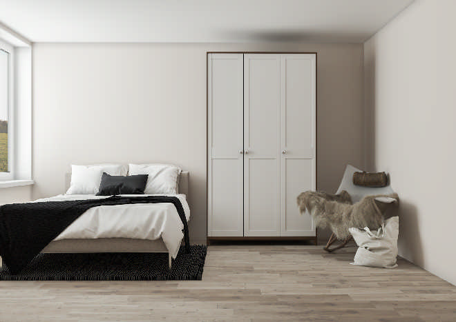 Gresham Super Matt White Bedroom Doors