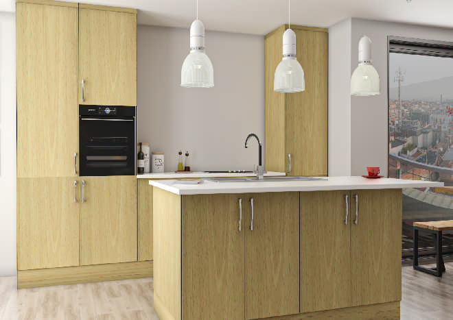 Lumi Beech Kitchen Doors
