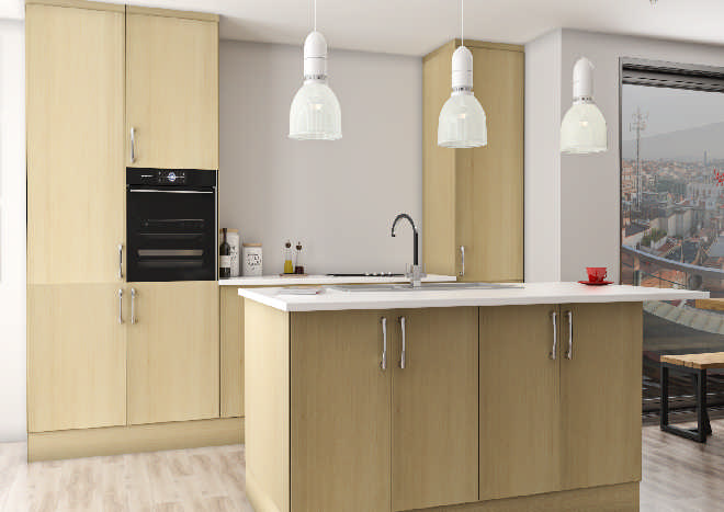 Lumi Canadian Maple Kitchen Doors