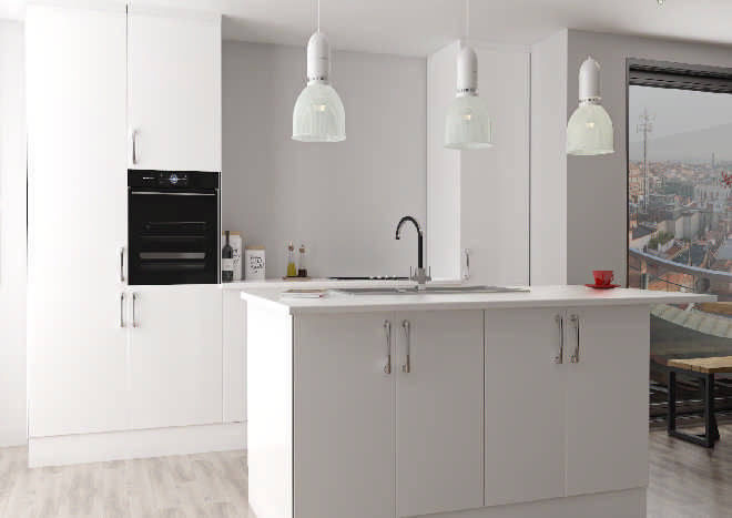 Lumi High Gloss White Kitchen Doors