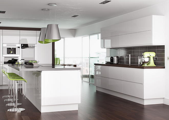 High Gloss Kitchens High Gloss White Cabinets Large Size: High Gloss Cashmere Kitchen Doors From £3.99