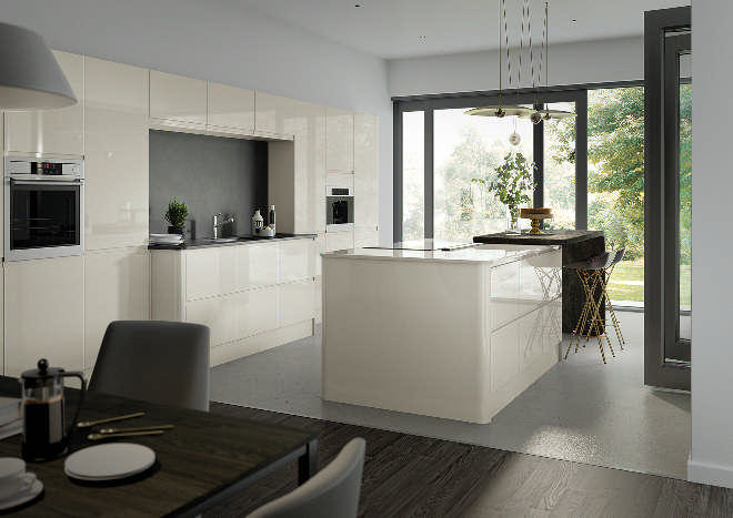 Lucente High Gloss Porcelain Kitchen Doors