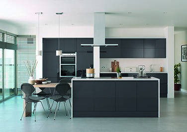High Gloss Anthracite Kitchen Doors