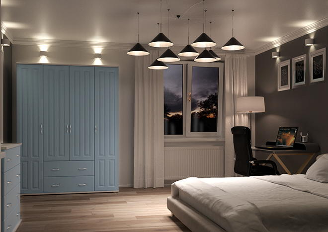 Amberley Denim Blue Bedroom Doors