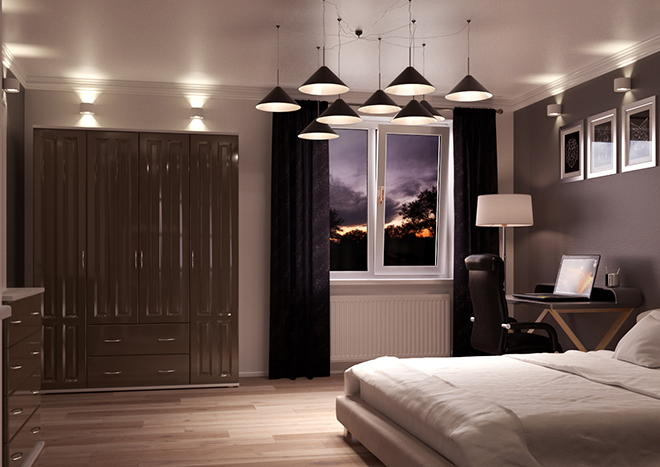 Amberley High Gloss Graphite Bedroom Doors