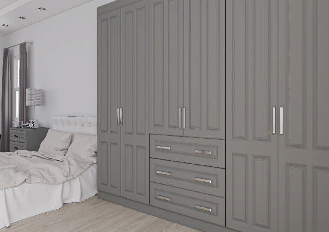 Amberley TrueMatt Dust Grey Bedroom Doors