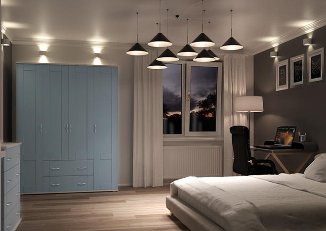 Arlington Denim Blue Bedroom Doors