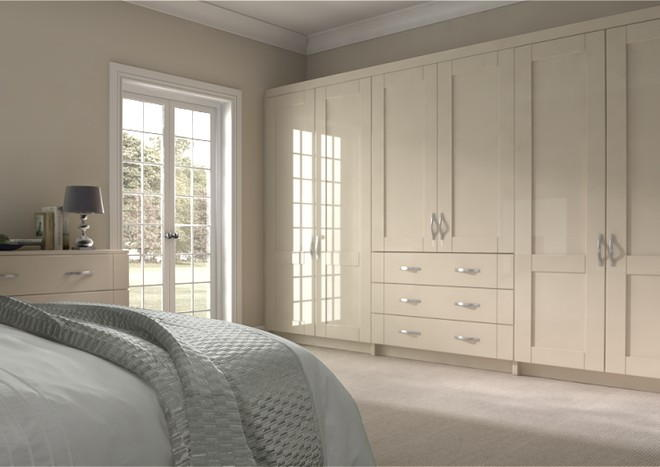 Arlington High Gloss Cappuccino Bedroom Doors