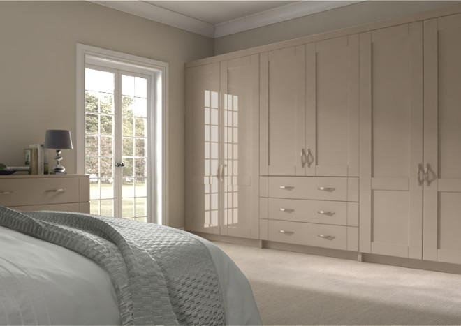 Arlington High Gloss Cashmere Bedroom Doors