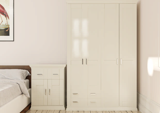 Arlington High Gloss Ivory Bedroom Doors