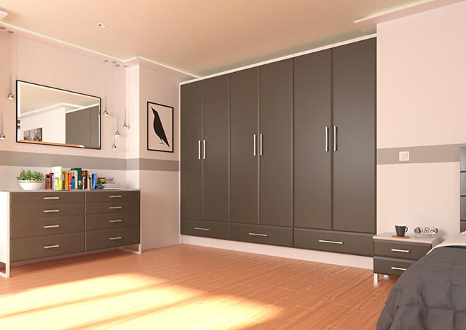 Brighton Graphite Bedroom Doors
