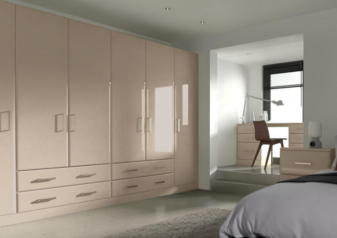 Brighton High Gloss Cashmere Bedroom Doors