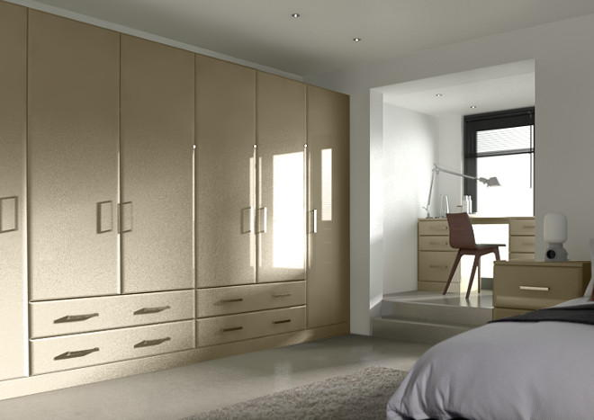 Brighton High Gloss Dakar Bedroom Doors