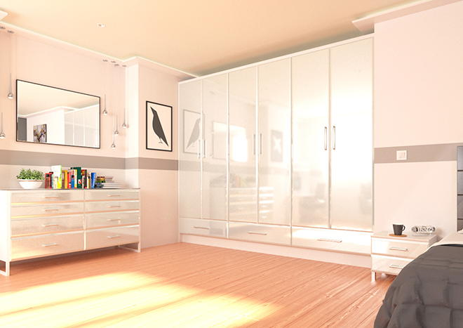 Brighton High Gloss Silver Bedroom Doors