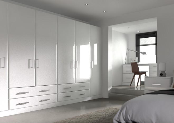 Brighton High Gloss White Bedroom Doors