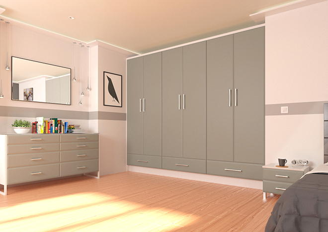 Brighton Pebble Grey Bedroom Doors