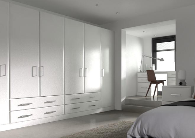 Brighton Silk White Bedroom Doors