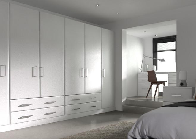 Brighton Super White Ash Bedroom Doors