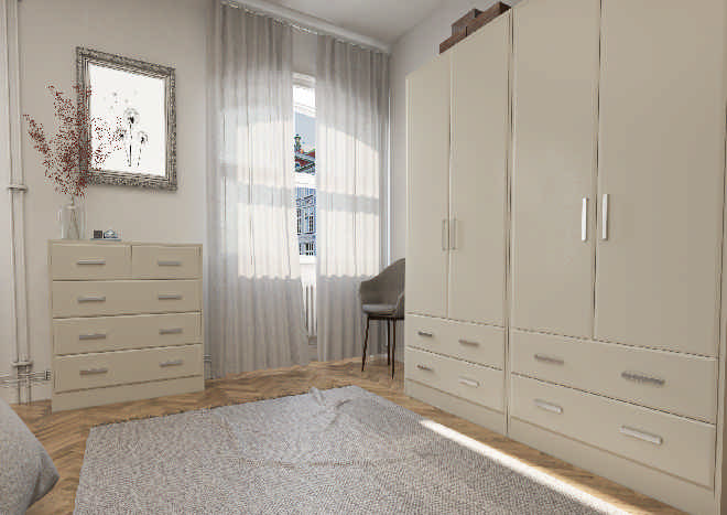 Brighton TrueMatt Pebble Bedroom Doors